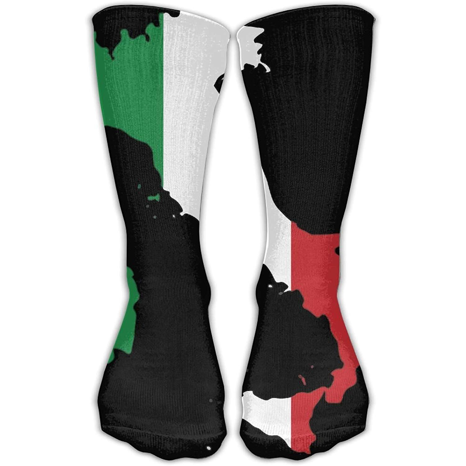 Italy Flag Map Unisex Novelty Crew Socks Ankle Dress Socks Fits Shoe Size 6-10