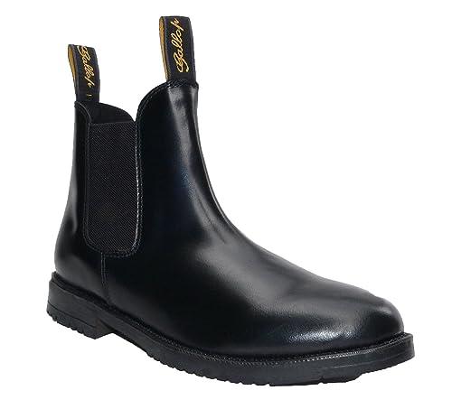 Saxon - Botas de equitación para niño Negro negro sqfnuYQ6X