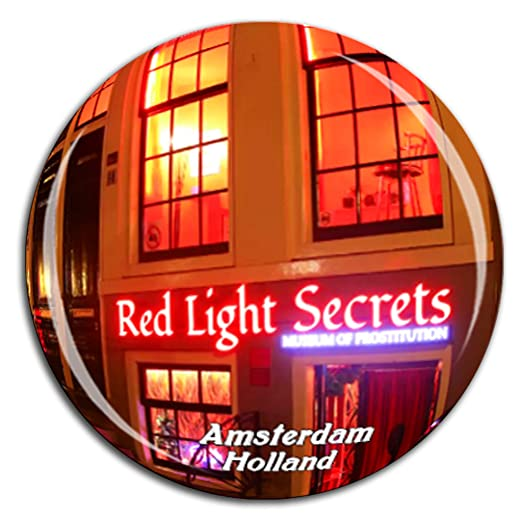 Weekino Red Light District Amsterdam Países Bajos Holanda Imán de ...