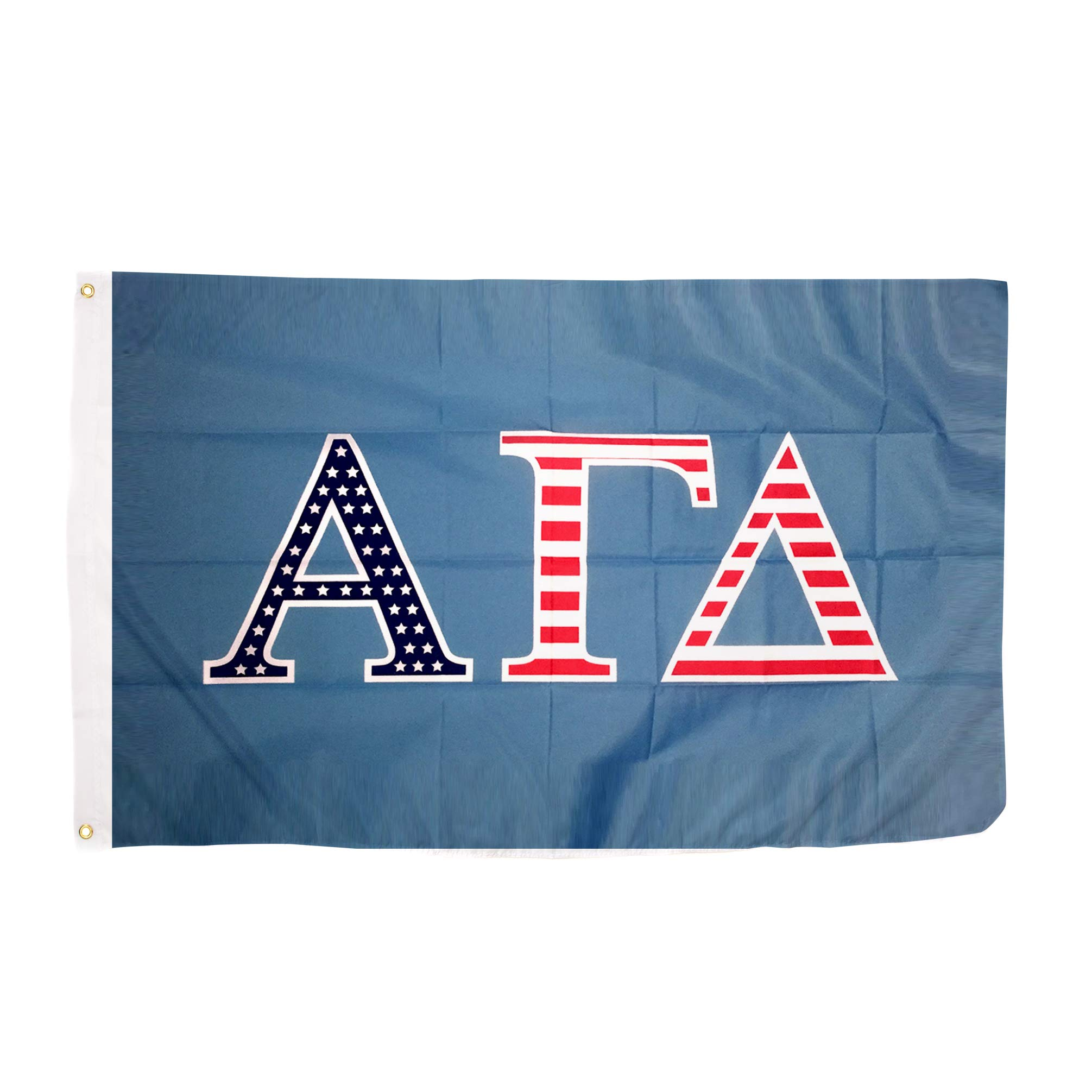 Alpha Gamma Delta USA Letter Sorority Flag Greek Letter Use as a Banner 3 x 5 Feet Sign Decor Alpha Gam by Desert Cactus