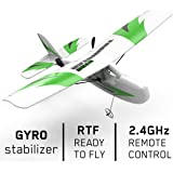 VOLANTEXRC Mini RC Airplane Traninstar Micro 2.4GHz 2CH Remote Control Airplane Ready to Fly with Gyro Stabilization for…