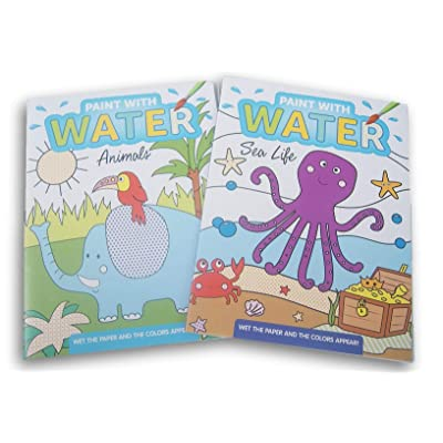 Greenbrier Paint with Water Book Set - Animals and Sea Life Themes: Toys & Games