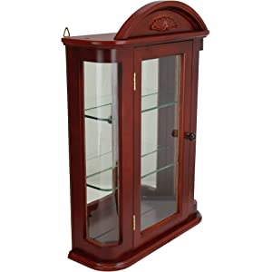 glass net wall cabinet with edgarpoe display