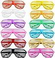 UEETEK 12 divertidos PC plástico decorativo tonos los vidrios del obturador posando las gafas de sol gafas Pop para fiesta Canival