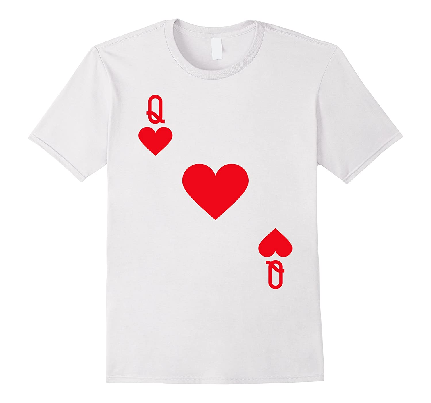 Queen of Hearts Costume T-Shirt Halloween Deck of Cards-FL