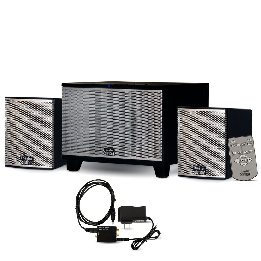 Theater Solutions TS220 Powered Bluetooth 2.1 Speaker System with FM Tuner and Optical Input by Theater Solutions