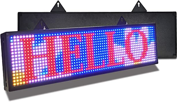 """i 40/""""x 8/"""" 7 Colors Outdoor LED Sign Programmable Scrolling Message Board Durable"""