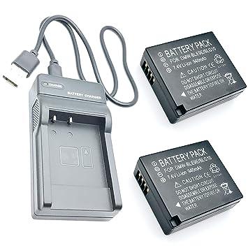 Paquete de 2 baterías y Cargador de Viaje USB para Panasonic ...