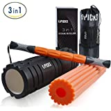 4 in 1 Foam Roller Trigger Point Roller Muscle Massage Stick for Deep Tissue Massage Physical Therapy,Myofascial Release,Pain Relief,Muscle Recovery.High Density Pilates Yoga Roller-18''