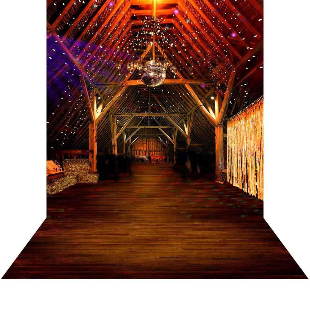 写真バックドロップwith床 – Barn Dance – 10 x 20 ft。シームレスなファブリック   B013CL2XY4