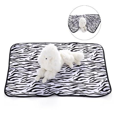 Manta Cojin y Suave para Perro Gato HuaForCity Lados Dobles Cama Cubierta de Terciopelo Coral para