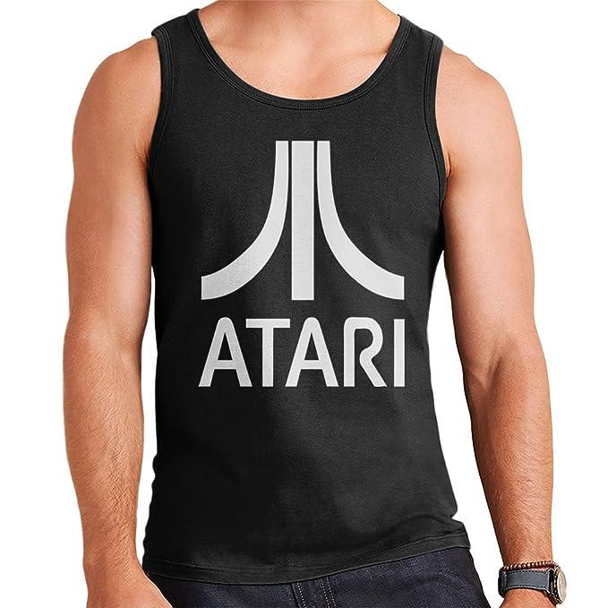 Men's Black Atari Logo Vest Top, S to XXL