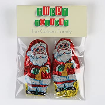 holiday tiles candy bag toppers christmas candy bags christmas and chanukah party favors - Christmas Candy Bags