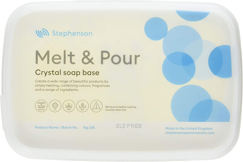 Mystic Moments Base de jabón Transparente para derretir y Verter ...