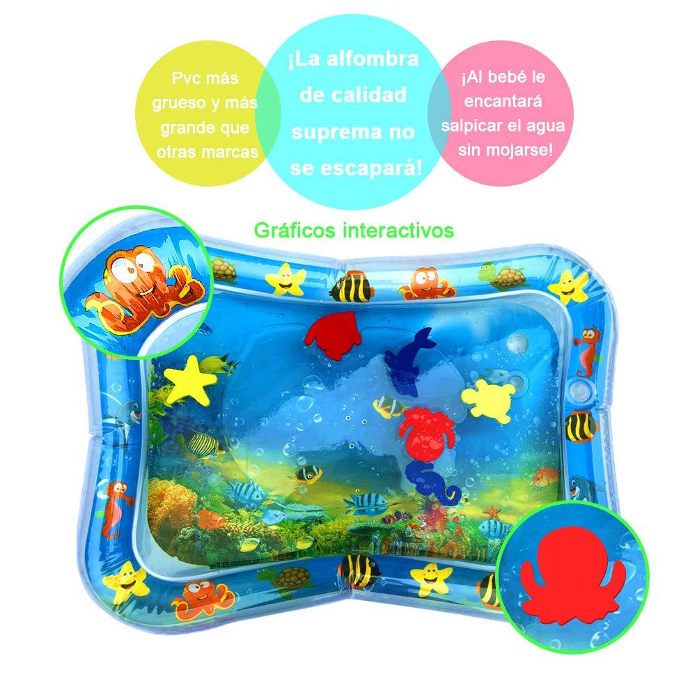Swonuk Alfombra Inflable con Agua 66*50, Juego de Esterilla de Agua PVC Grueso, Adecuado para niños pequeños, es el Momento de diversión Juego Centro ...