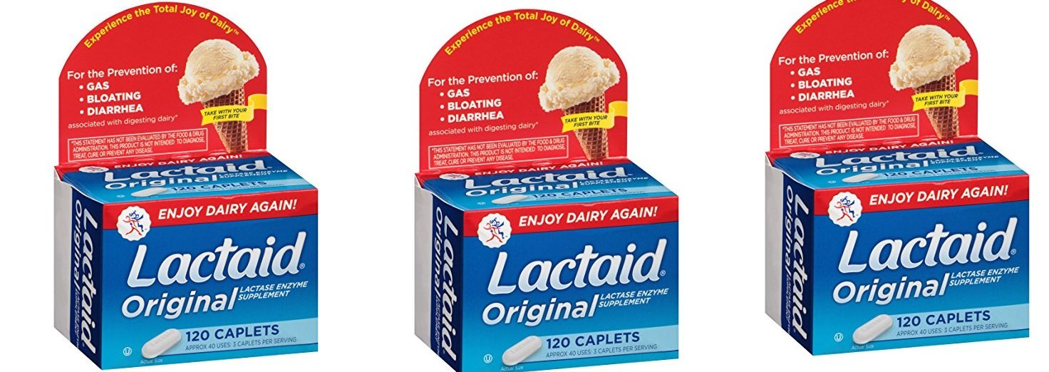 Lactaid, Originals, 120 PFPtOy Count (Pack of 3) by Lactaid