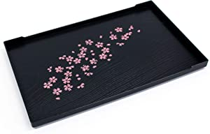 Cherry Blossom Pattern Tea Serving Tray, Japanese Style, 10 x 6.3inches