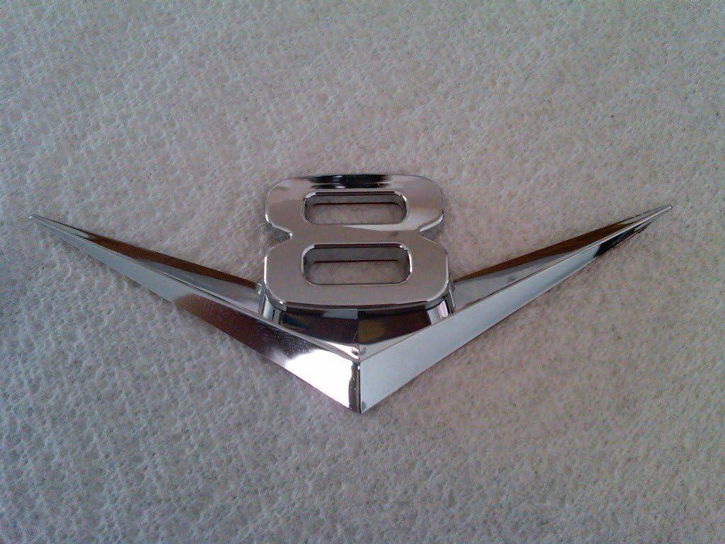 TRUE LINE Automotive V6 / V8 Chrome Emblem Badge Trim (V8)