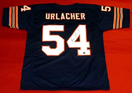 8363ba20302 BRIAN URLACHER AUTOGRAPHED CHICAGO BEARS JERSEY BU AUTHENTICS HOLOGRAM HOF  2018
