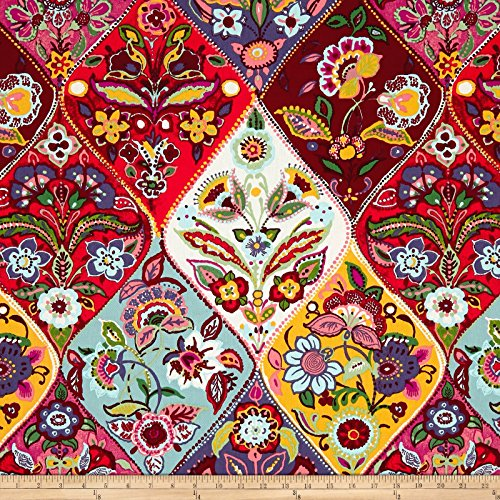 Stof Fabrics of France Stof France Polina Basketweave Multicolor Fabric by the Yard