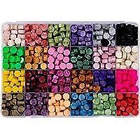 Bhuuno Sealing Wax Beads, 600 Pieces Octagon Sealing Wax Beads for Wax Seal Stamp DIY Card Making Wedding Invitations…