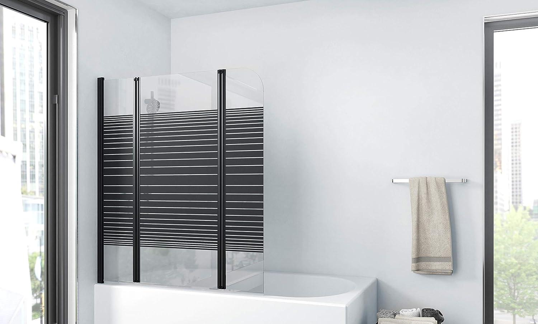 Marwell BWF250 Black Lines - Pared plegable para bañera, color ...