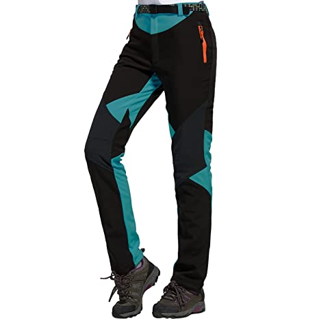 b474fb6572 Sidiou Group All'aperto Pantaloni da Trekking Pantaloni Softshell Donna  Pantaloni da Arrampicata Pantaloni da Escursionismo Fleece Pantaloni  Antivento ...