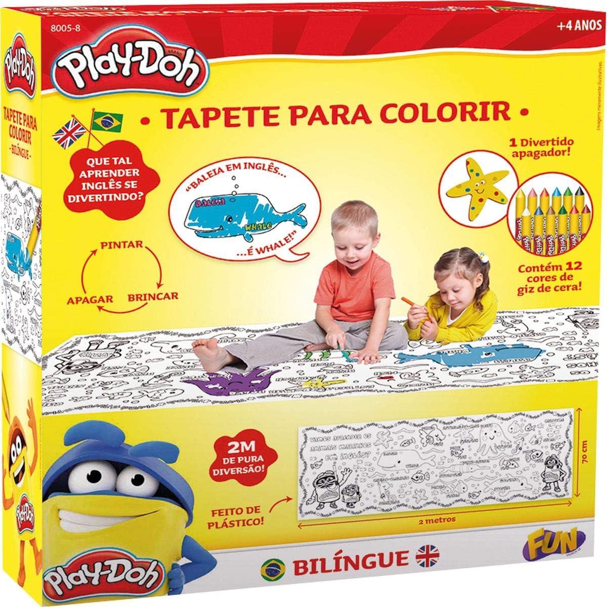 Tapete para Colorir Bilíngue Play Doh