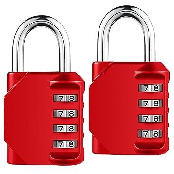 Cerradura de combinación, candado de combinación de 4 dígitos para pistola caso, gimnasio y