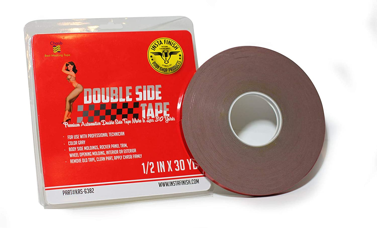 Insta Finish 30 Yard Double Sided Tape 1//2 Inch x 30 Yards