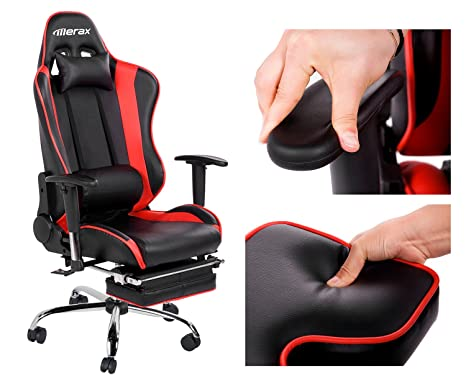 Amazon.com: Merax Ergonomic Series Pu Leather Office Chair Racing ...