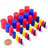 "40 Pc 1/16"" to 3/4"" High Temp Silicone Rubber Tapered Plug Kit - Powder Coating Custom Painting Supplies"