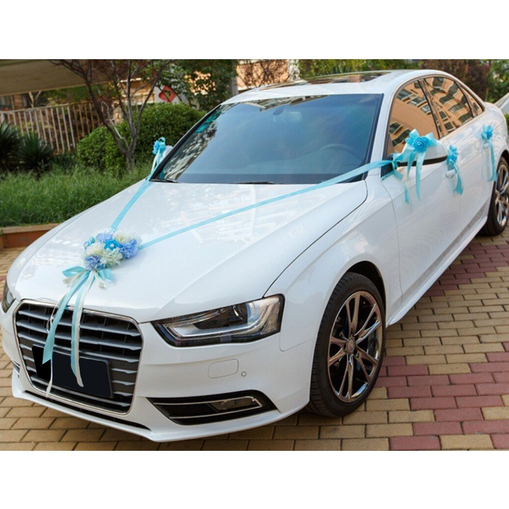 Amazon dovewill wedding car decoration kits 9 colors blue junglespirit Gallery