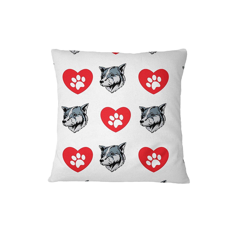 Thai Bangkaew Dog Dog Heart Paws Sofa Bed Home Decor Pillow Cover Pillow & Cover Set RENJUNDUN by RENJUNDUN