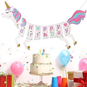 Ruth Refined Geburtstagsparty Dekorationen Einhorn Geburtstag