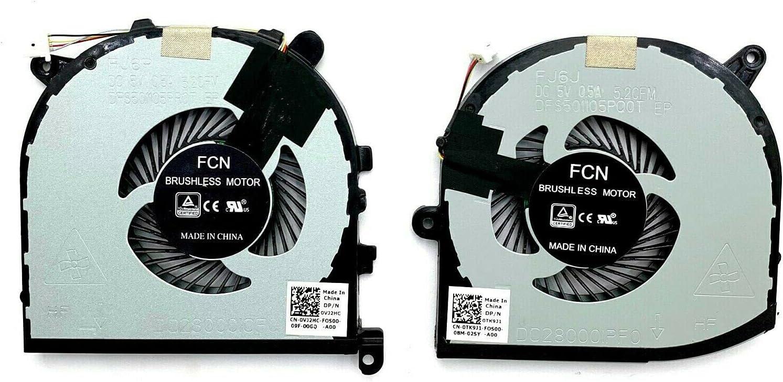 New CPU&GPU Cooling Fan for Dell XPS 15 9560 Precision 5520 M5520 0VJ2HC 0TK9J1