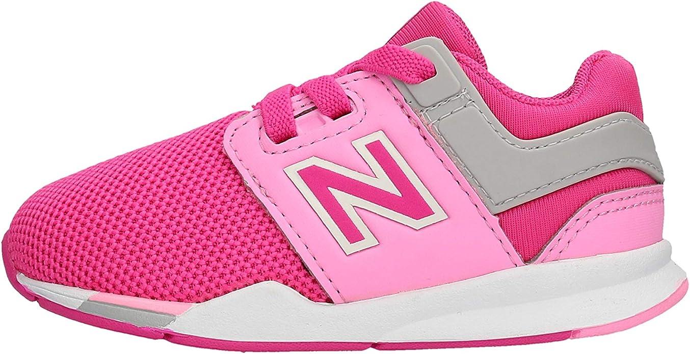 New Balance Scarpe Sneakers Lifestyle Bambina Rosa IH247FE: Amazon ...