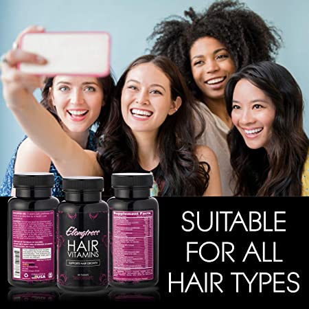 El crecimiento del cabello Vitaminas - 5000 mcg Biotina, sílice y MSM - 2 por día vitaminas del pelo para el crecimiento del cabello más rápido - a crecer ...