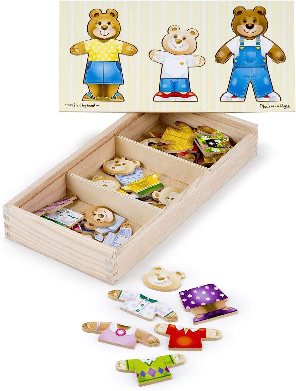 Melissa & Doug- Bear Family Dress-Up Juego Puzzle, Multicolor (13770) , color/modelo surtido