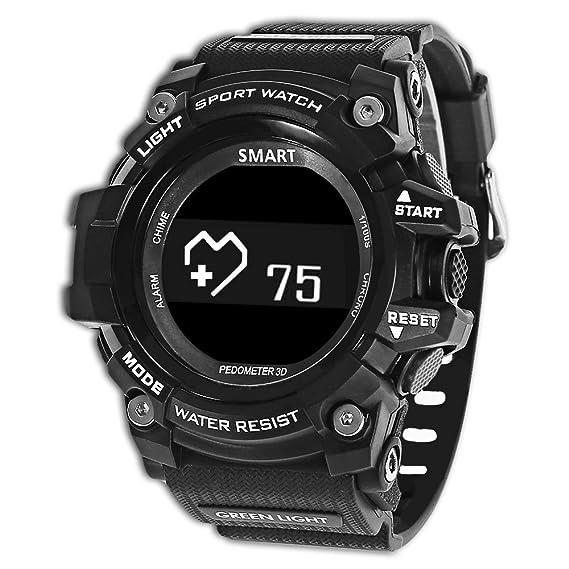Romacci Reloj Inteligente Smartwatch Pulsera Inteligente con Pulsómetro Pulsera Deportiva y Monitor Podómetro Fitness trackerTiempo Salud Recordatorio para ...