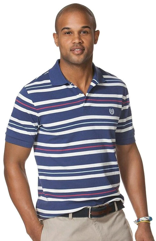 Chaps by Ralph Lauren Mens Stripe Pique Polo Shirt: Amazon.es ...