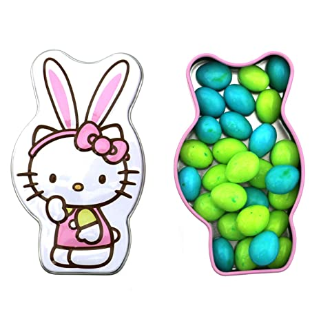 299911e49 Amazon.com : Hello Kitty Speckled Easter Eggs Bunny Tin Candy (2 Pack) Sweet  Flavor Gift Stuffer with 2 GosuToys Stickers : Grocery & Gourmet Food