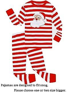 Family Feeling Little Boys Girls  Red Stripe Christmas Pjs Cotton Pajama  Sets a7d48e014