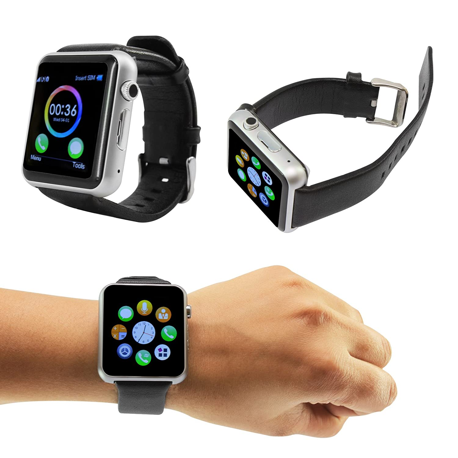 full rate screen phone product circle new mobile monitor bluetooth heart pedometer touch watches