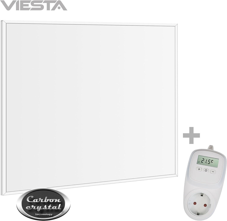 360 Watt TH10 Thermostat Decken Heizpaneel Heizk/örper Heizung Heating Panel ultraflache Wandheizung Wei/ß neueste Technologie VIESTA CF360 62x62cm Infrarotheizung Carbon Crystal