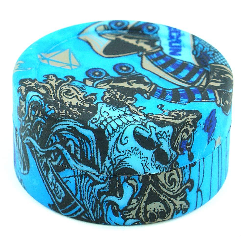 X-Value Dab Container Silicone Wax Jar 22ml Colorful Alien Design 1Piece Non-stick Storage Jar Multi Use