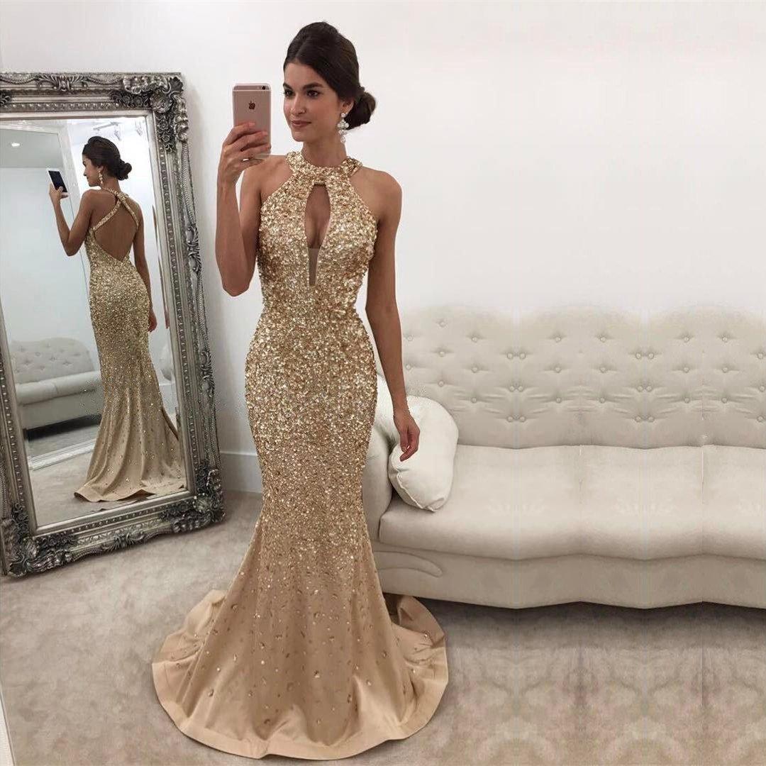 fe89730196 Modeldress 2018 - Vestido Sexy Brillante de Sirena para Graduación ...