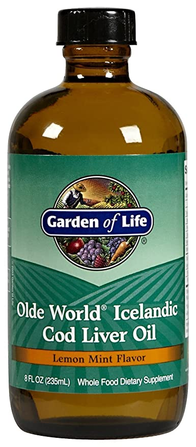 Olde World islandés aceite de hígado de bacalao, limón menta Sabor - Jardín de la