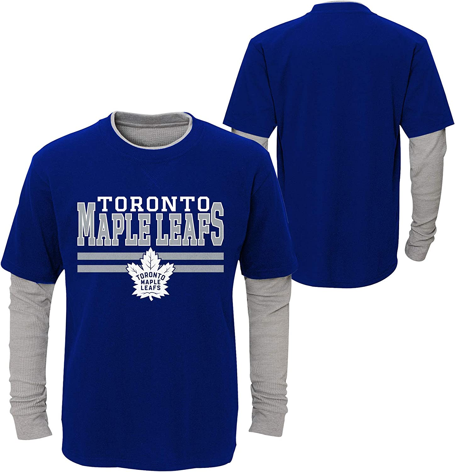 Toronto Maple Leafs Youth Defensive Pair Faux Layer Long Sleeve T-Shirt