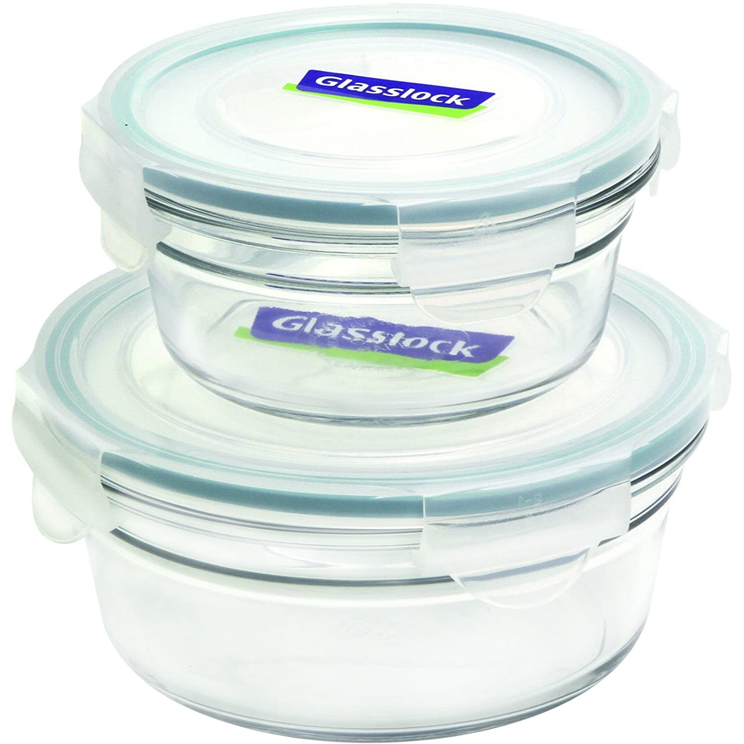 Glasslock 4-Piece Round Oven Safe Containers Set